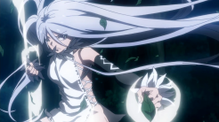 Taboo Tattoo / Episode 9 / In-anime visual of eye-stitch girl