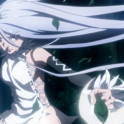 Taboo Tattoo / Episode 9 / In-anime visual of eye-stitch girl