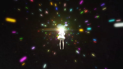 Kiznaiver / Episode 9 / A rainbow of light during Agata's out-of-body experience