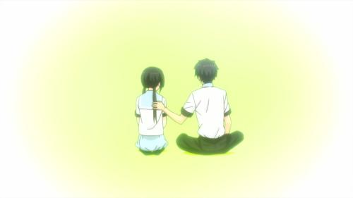 ReLIFE / Episode 10 / Kaizaki supporting Hishiro during a certain conversation