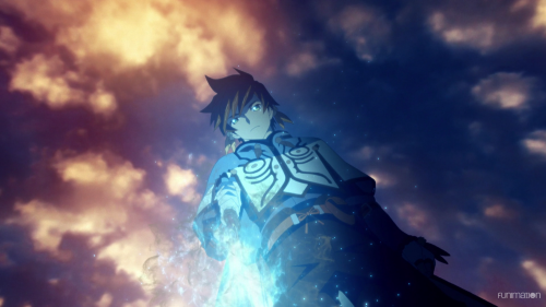 Tales of Zestiria the X / Episode 10 / Sorey using his sword to purify