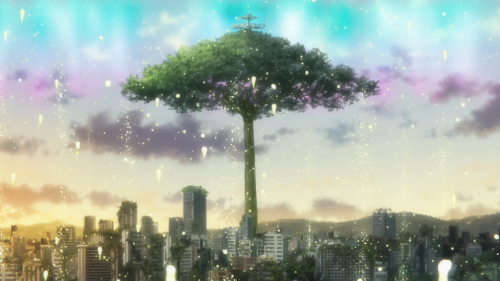 Rewrite / Episode 13 / A giant tree, signaling the end of things
