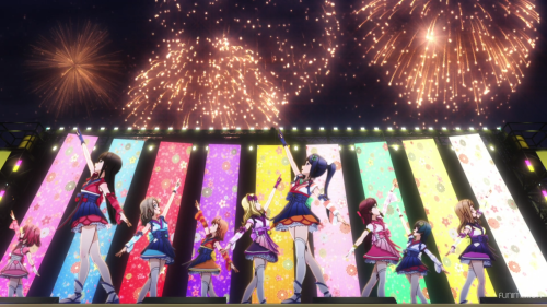 Love Live! Sunshine!! / Episode 9 / The girls of Aquors in the first performance as a full group