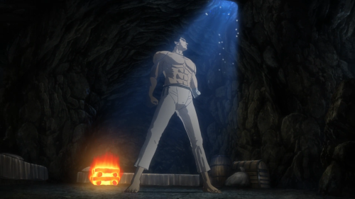 Berserk (2016) / Episode 4 / Guts standing in heroic fashion