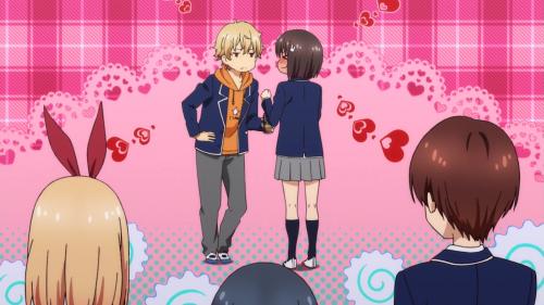 """Kono Bijutsubu ni wa Mondai ga Aru! / Episode 3 / Uchimaki and Usami """"sharing"""" a """"kiss"""""""