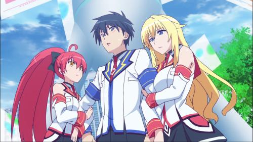 Masou Gakuen HxH / Episode 7 / Scarlett and Yurishia grabbing onto Kizuna