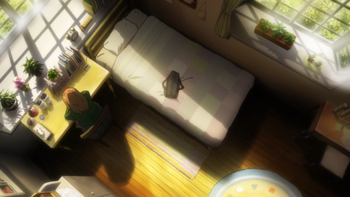 Orange / Episode 3 / Naho sitting in her room feeling sad