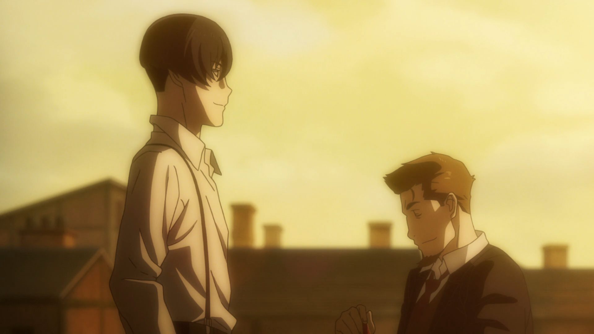 91 Days Episode 6 Angelo And Nero Talking On A Rooftop