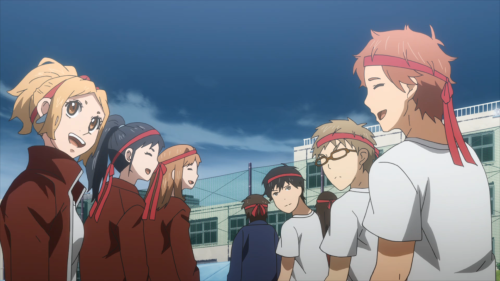 Orange / Episode 9 / The group waiting for the competition at school to begin