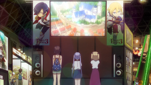 New Game! / Episode 11 / Hajime, Aoba, and Yun admiring their own work