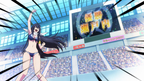 Keijo!!!!!!!! / Episode 12 / Nozomi winning the East-West War