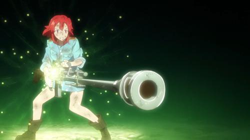 Shuumatsu no Izetta / Episode 3 / Izetta using magic to fire her rifle