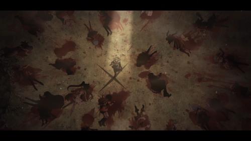 Mahou Shoujo Ikusei Keikaku / Episode 11 / Cranberry standing among some unfortunate souls