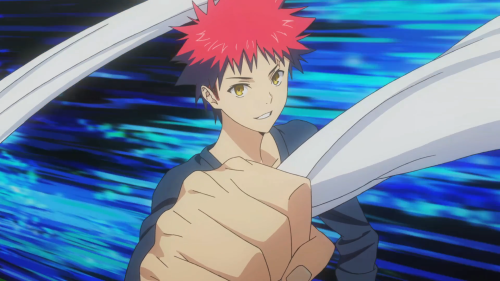 Shokugeki no Souma: Ni no Sara / Episode 1 / Souma giving his signature victory phrase and pose