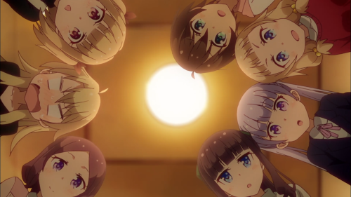 New Game! / Episode 12 / The whole cast looking downward