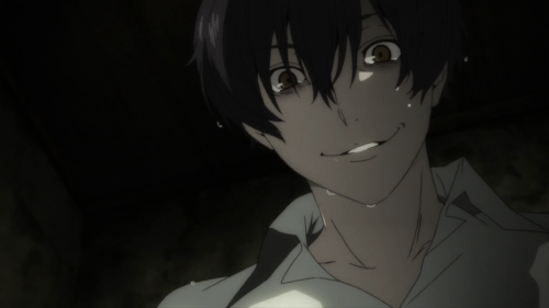 91 Days / Episode 1 / Angelo looking down with a menacing grin dominating his face