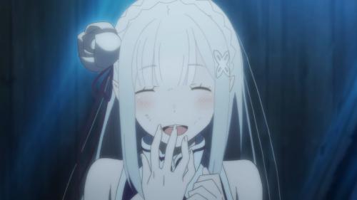 Re:Zero kara Hajimeru Isekai Seikatsu / Episode 3 / Emilia giving her real name to Subaru for the first time