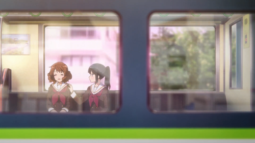 Hibike! Euphonium 2 / Episode 1 / Kumiko and Reina riding the train together
