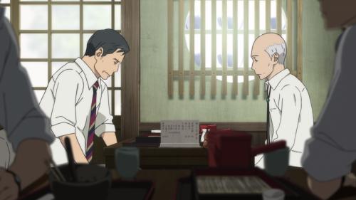 Fune wo Amu / Episode 1 / Araki and Matsumoto-sensei engaging in dialogue