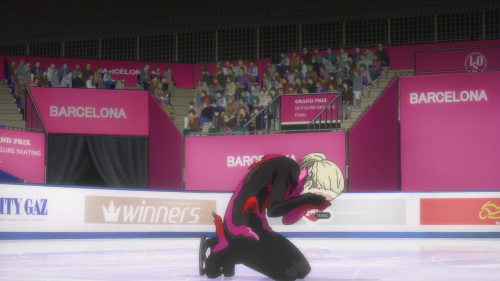 Yuri!!! on ICE / Episode 12 / Yurio breaking down happily after his Grand Prix Final free skate performance