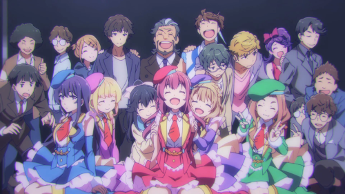 Gi(a)rlish Number / Episode 12 / The whole gang posing for a picture