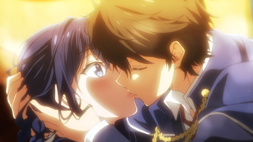 Masamune-kun no Revenge / Episode 12 / Masamune-kun kissing Aki during the Snow White play
