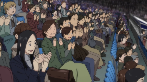 Yuri!!! on ICE / Episode 7 / A pan-over of the audience