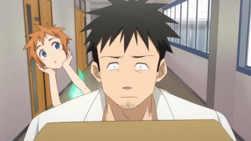 Demi-chan wa Kataritai / Episode 10 / Machi trying to get a better look at Takahashi-sensei