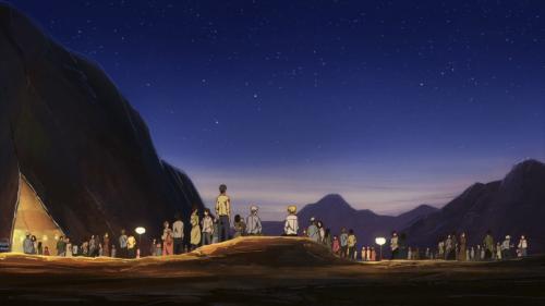 ACCA: 13-ku Kansatsu-ka / Episode 10 / Jean speaking with an elder of Pranetta district