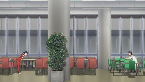 Demi-chan wa Kataritai / Episode 4 / Satou-sensei and Takahashi-sensei having a conversation both audibly and visually