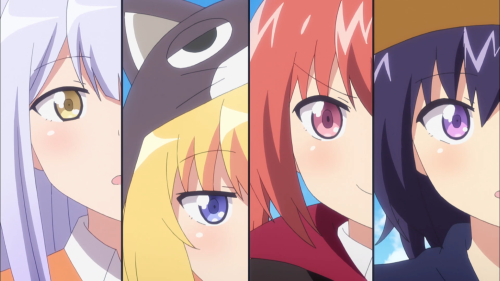 Gabriel DropOut / Episode 6 / Raphi, Gab, Satania, and Vigne trick-or-treating