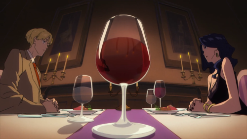 ACCA: 13-ku Kansatsu-ka / Episode 3 / Jean and Mauve speaking over dinner