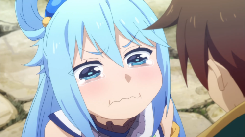 KonoSuba Season 2 / Episode 7 / Aqua crying hard