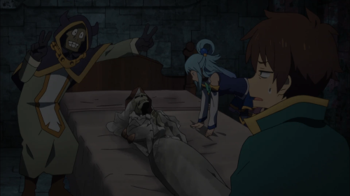 """KonoSuba Season 2 / Episode 3 / An """"evil"""" arch wizard excited about his deceased wife's beauty"""