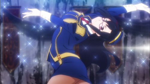 KonoSuba Season 2 / Episode 1 / Sena bending backwards