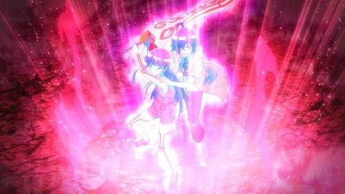 Sousei no Onmyouji / Episode 13 / Benio and Rokuro using Resonance for the first time