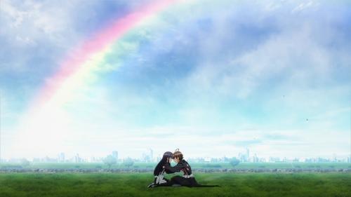 Sousei no Onmyouji / Episode 40 / Benio and Rokuro sharing an intimate moment