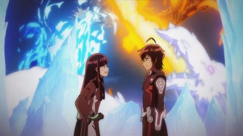 Sousei no Onmyouji / Episode 49 / Benio and Rokuro sharing their double-kiss confession
