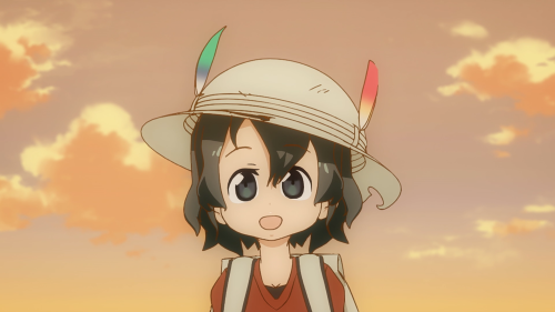 Kemono Friends / Episode 12 / Kaban smiling wide