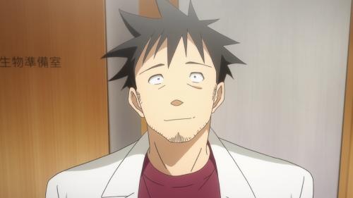 Demi-chan wa Kataritai / Episode 11 / Takahashi-sensei smiling at the demis and the humans having fun together