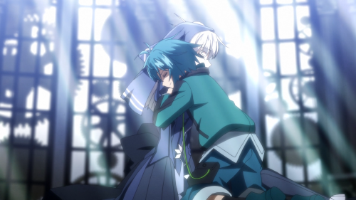 Clockwork Planet / Episode 4 / Naoto hugging RyuZU