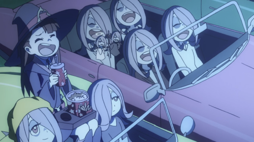 Little Witch Academia (TV) / Episode 9 / Akko watching Sucy's memories with other Sucys