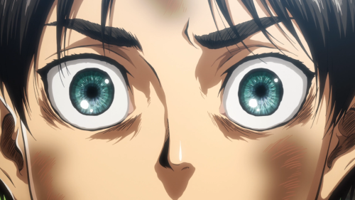 Shingeki no Kyojin Season 2 / Episode 1 / An up-close frame of Eren's eyes