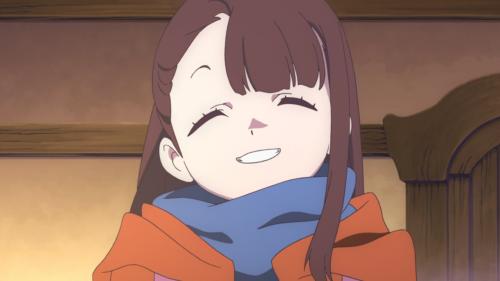Little Witch Academia / Episode 1 / Akko smiling bright