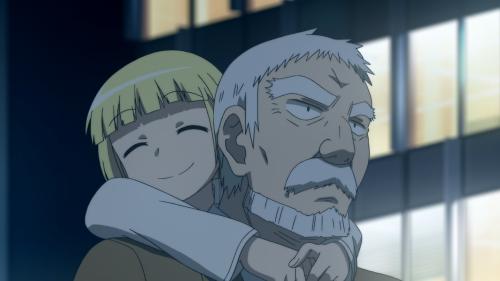 Alice to Zouroku / Episode 6 / Zouroku carrying Sana on his back