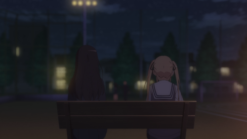 Saenai Heroine no Sodatekata ♭ / Episode 4 / Utaha and Eriri sit on a bench together
