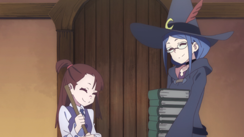 Little Witch Academia (TV) / Episode 7 / Akko and Professor Ursula laughing together