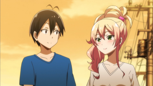 Hajimete no Gal / Episode 7 / Junichi and Yukana walking together