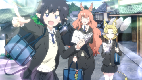Centaur no Nayami / Episode 4 / Nozomi, Hime, and Kyouko having a lot of fun together