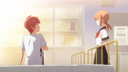 Tsurezure Children / Episode 7 / Sugawara and Chizuru crossing paths in the nurse's office